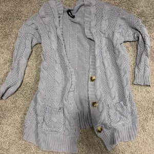 Chunky grey boyfriend cardigan